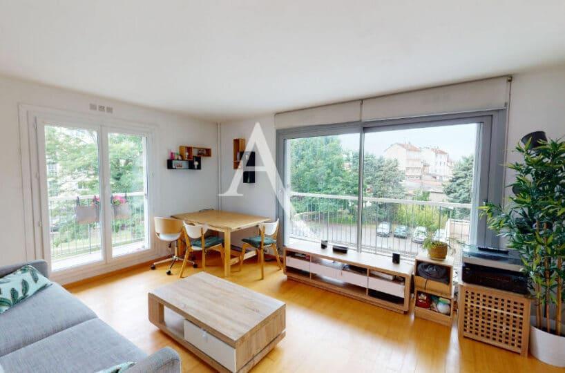 agence immo maisons-alfort: 3 pièces 61 m² avec balcon, cave et box. résidence calme avec gardien, proche écoles et métro