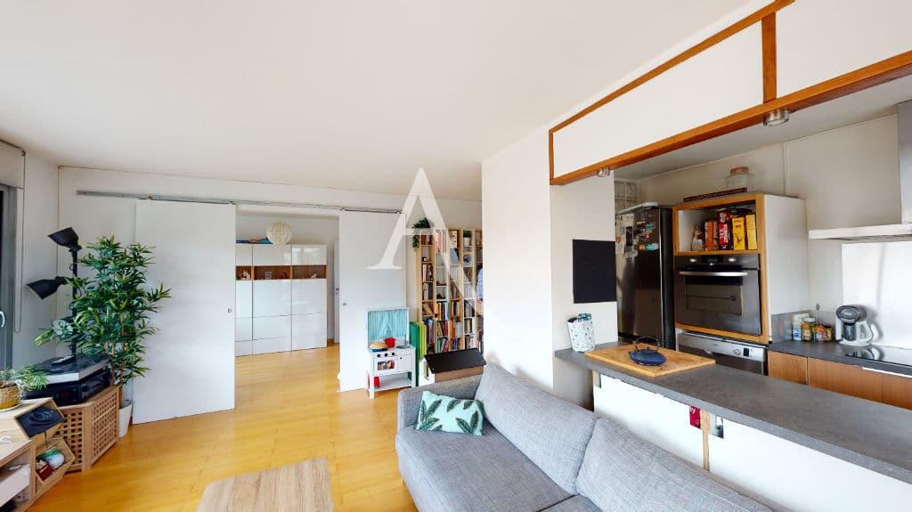 vente appartement maisons-alfort: 3 pièces 61 m², cuisine ouverte sur la pièce de vie