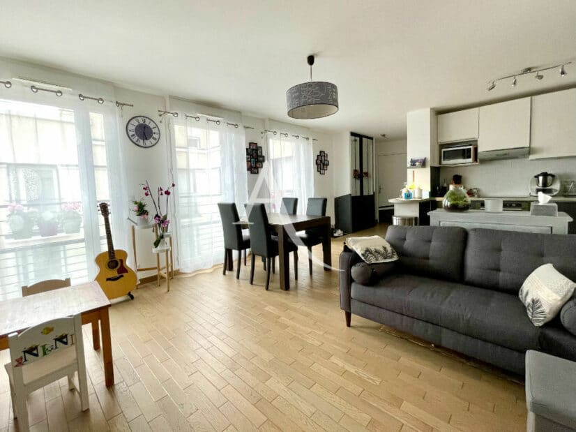 vente appartement maisons alfort: 3 pièces 67 m², salon / séjour avec cuisine ouverte