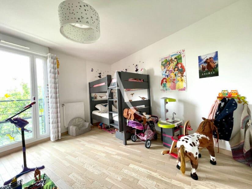 immobilier a maisons alfort: 3 pièces 67 m², 2° chambre avec 2 lits superposés