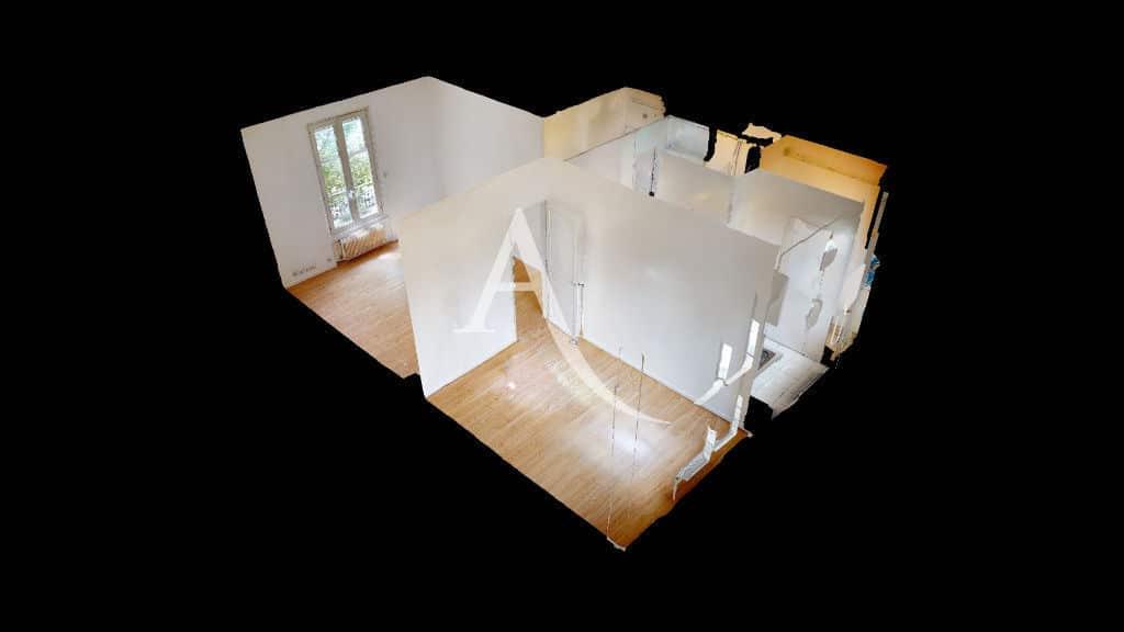 vente appartement 2 pieces maisons alfort: 2 pièces 32 m², plan 3d