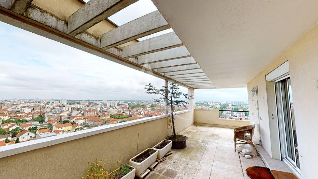 vente appartement 2 pieces alfortville: 2 pièces 54 m², terrasse avec vue panoramique