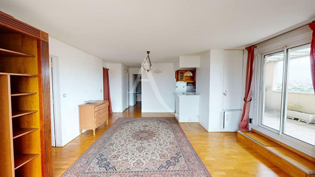 appartement a vendre alfortville: 2 pièces 54 m², beau séjour lumineux avec parquet chêne