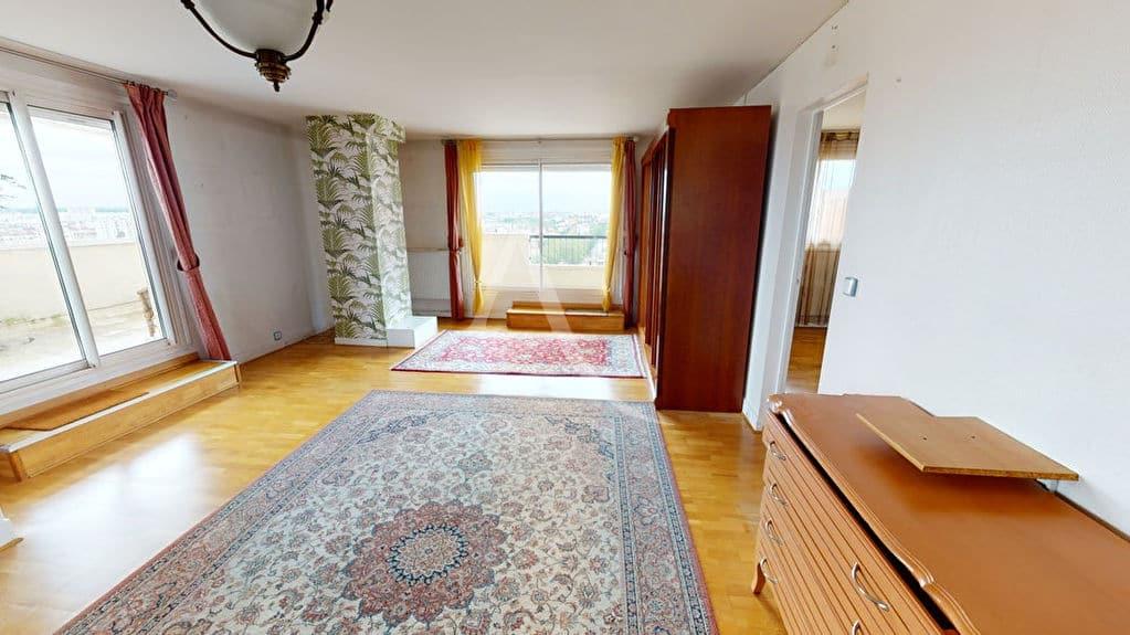 appartement à vendre à alfortville: 2 pièces 54 m², séjour donnant terrasse de 35 m²