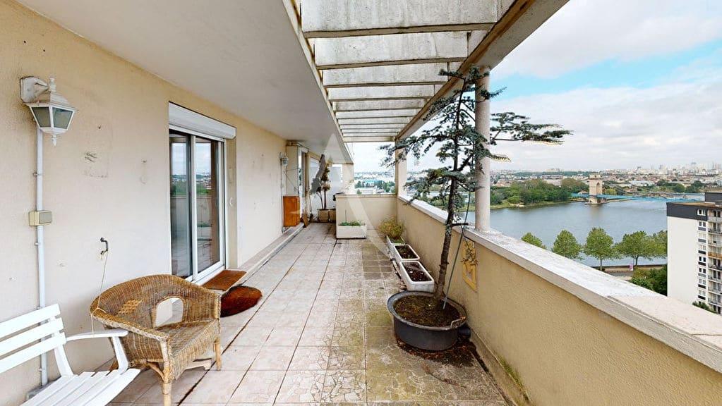 agence immo alfortville: 2 pièces 54 m², jolie terrasse de 35 m² avec vue dégagée