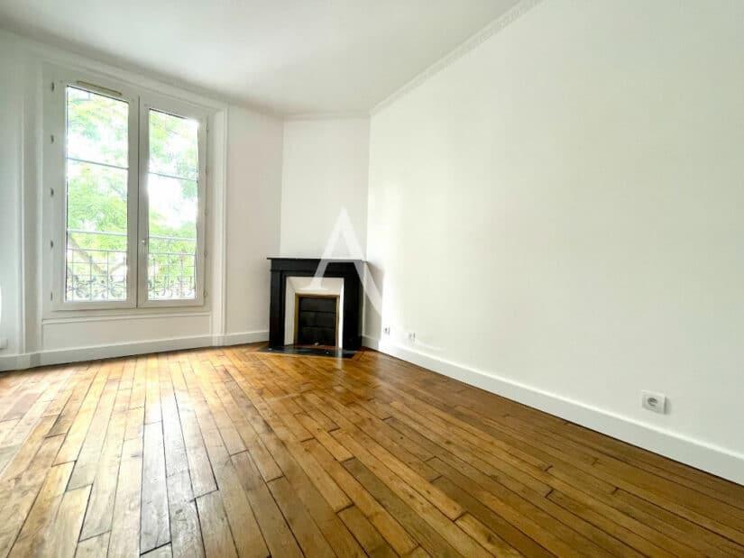 appartement à vendre val marne: 2 pièces 36 m², séjour avec cheminée en marbre, parquet chêne, moulures au plafond