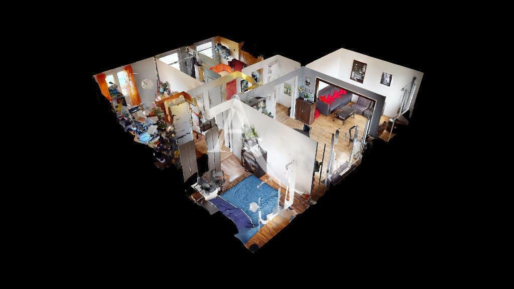 appartement maison alfort: 3 pièces 68 m², visite virtuelle avec vue 3d