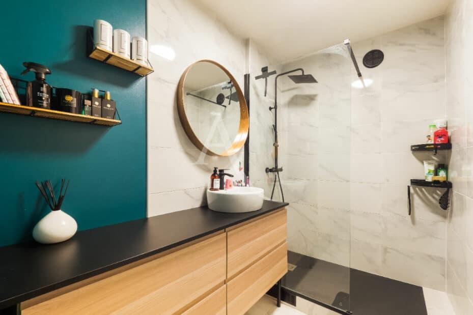 agence immobilière val de marne: 4 pièces 83 m² avec balcon, salle de bain moderne, secteur hotel de ville, lac de créteil