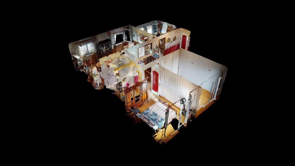 appartement alfortville: 4 pièces 68 m², vue 3d de la visite virtuelle