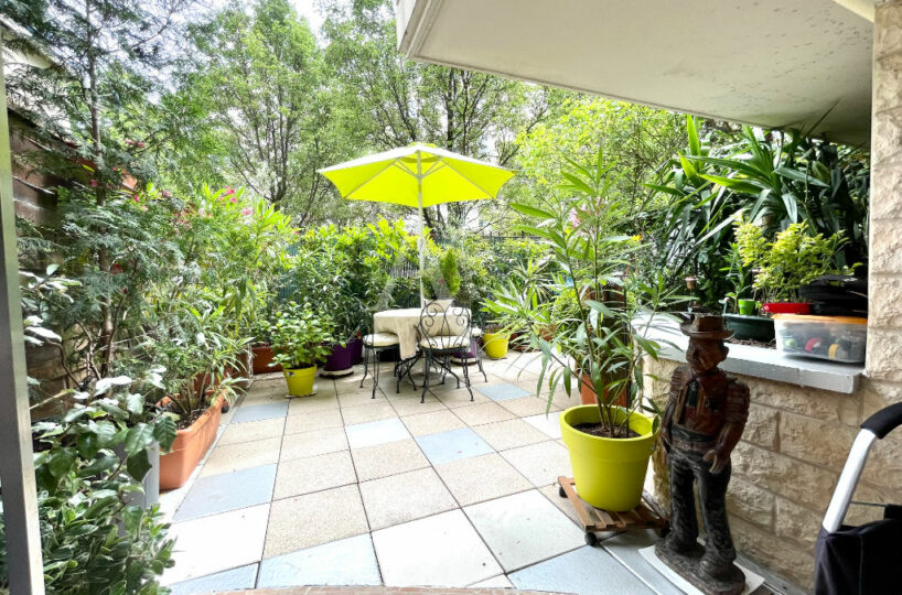 agence immo charenton le pont: 3 pièces 71 m², jardin privatif de 37 m², immeuble bon standin, secteur archevêché