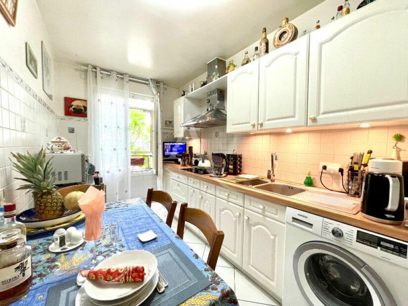 appartement charenton le pont: 3 pièces 71 m², cuisine indépendante aménagée et équipée