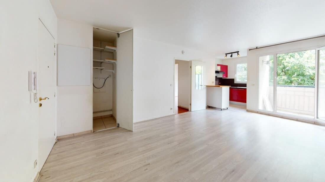 appartement à louer alforville, 2 pièces 44 m² avec balcon et parking dans résidence de standing, proche transports