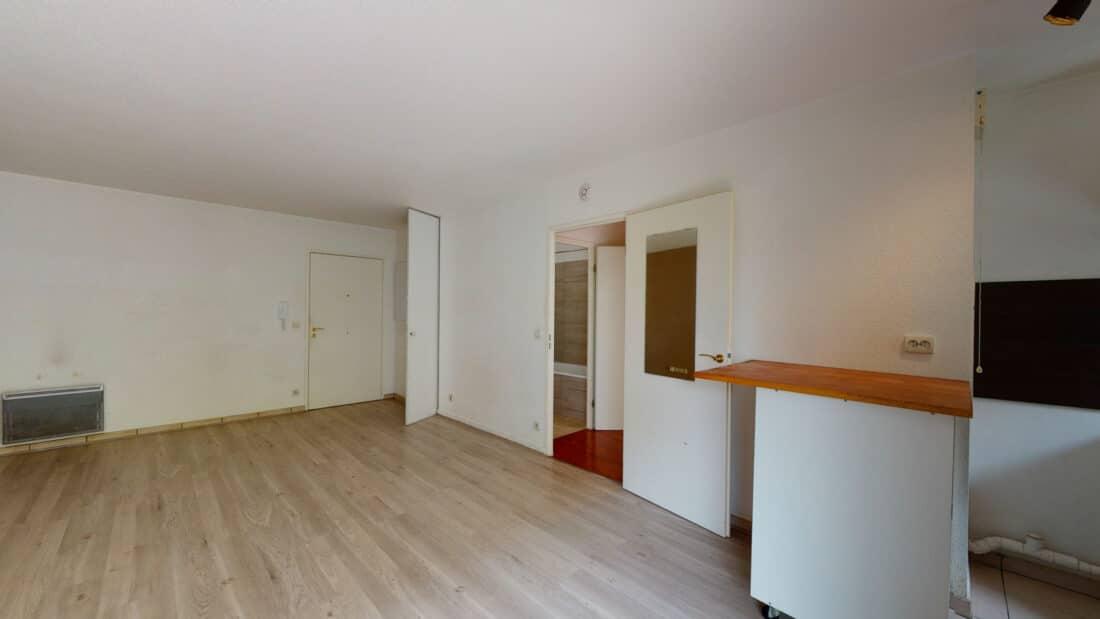 louer appartement à alfortville: 2 pièces 44 m², cuisine ouverte sur le séjour, balcon