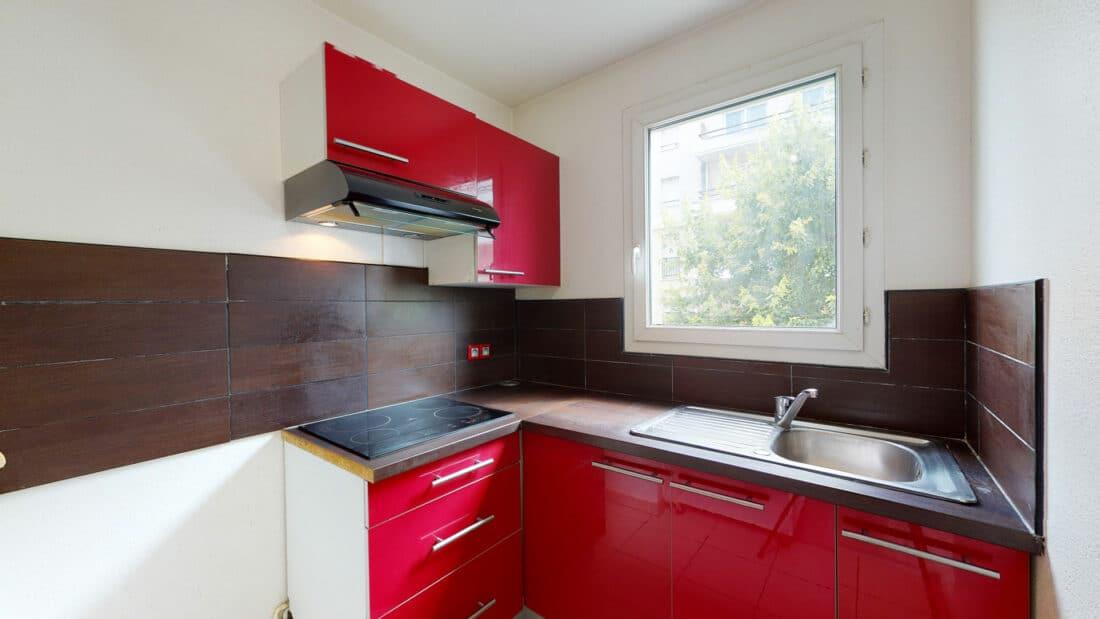 appartement alfortville location: 2 pièces 44 m², cuisine semi équipée et aménagée