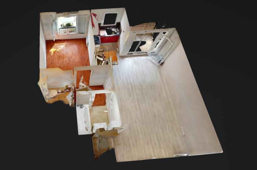agence immo alfortville: 2 pièces 44 m² parking et balcon, visite virtuelle interactive