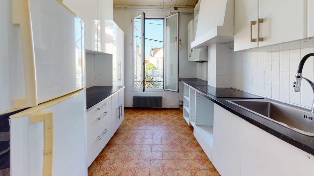 immobilier maison alfort: appartement 3 pièces, cuisine aménagée avec plaques électriques