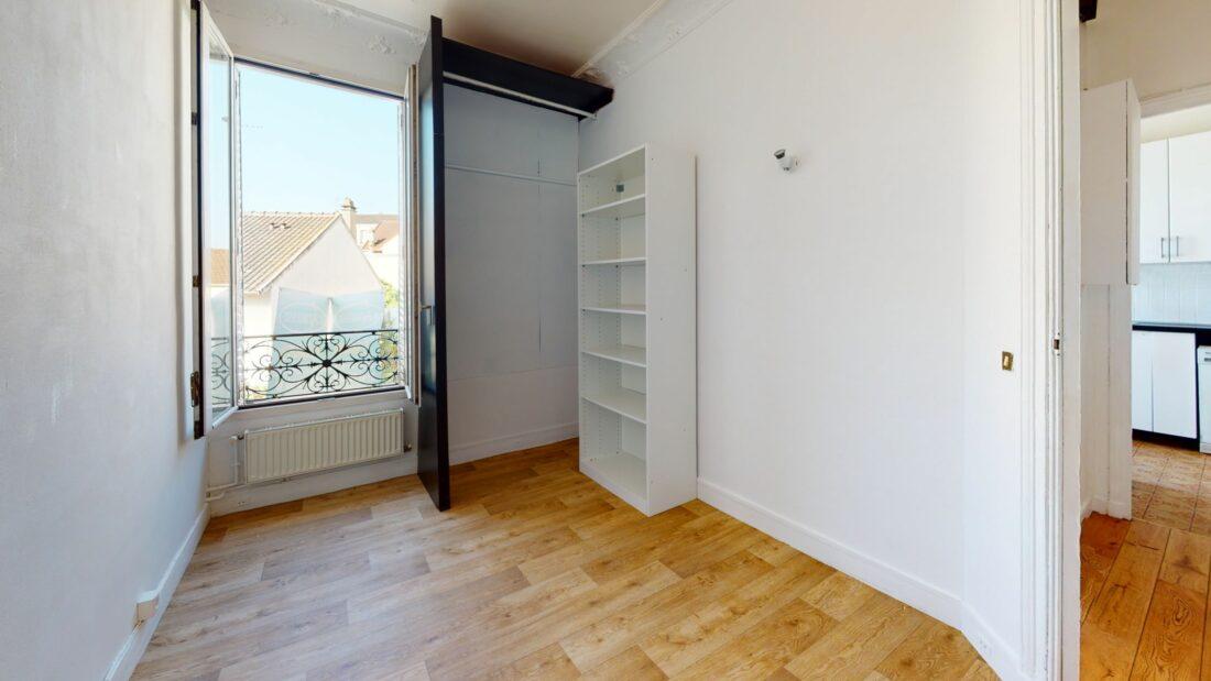 agence immo maisons alfort: 3 pièces 52 m², chambre 2 avec vue dégagée