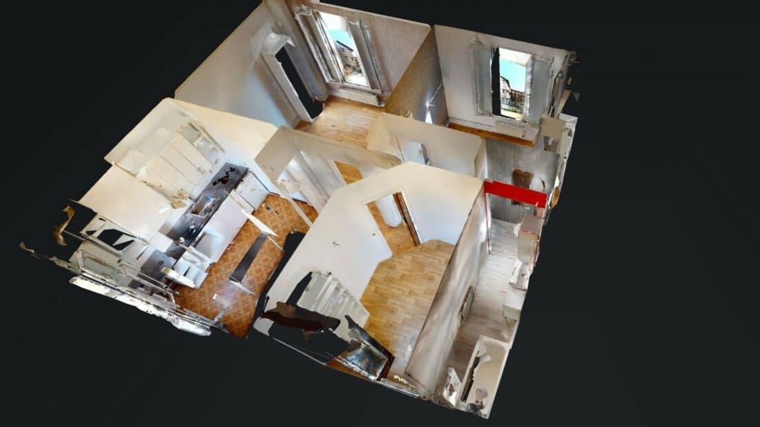louer appartement à maisons alfort: 3 pièces 52 m², visite virtuelle interactive en ligne
