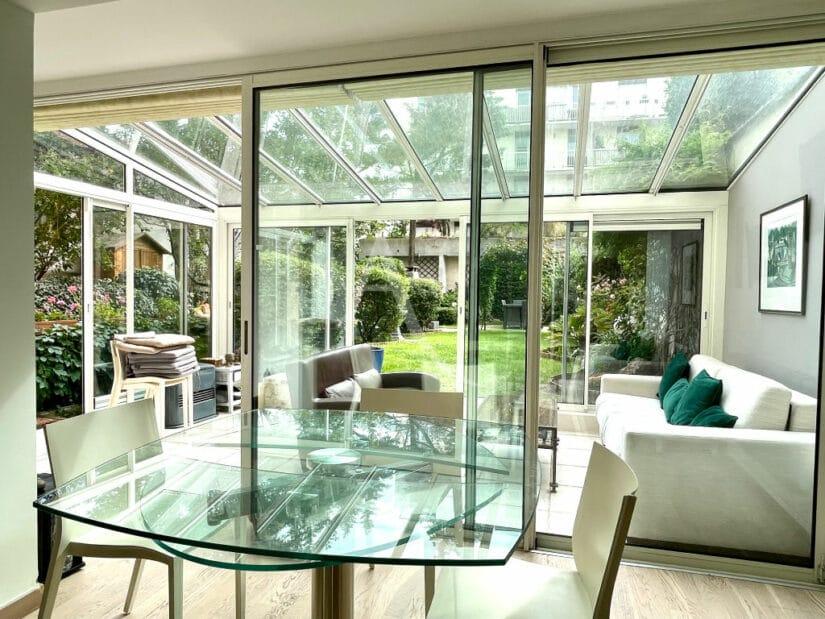 charenton le pont immobilier: 3 pièces 82 m², avec véranda donnant directement sur un jardin privatif de 188 m²