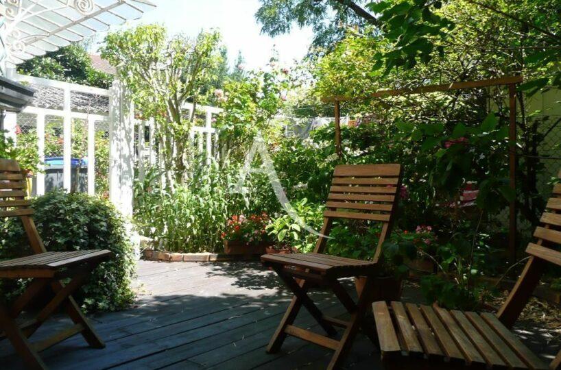 agence immobilière maison alfort: appartement 3 pièces 53 m² à louer, avec jardin privatif