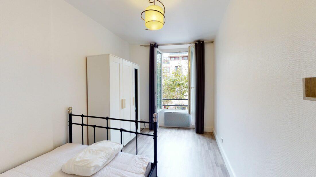 louer appartement à charenton: 2 pièces 32 m², chambre à coucher lumineuse