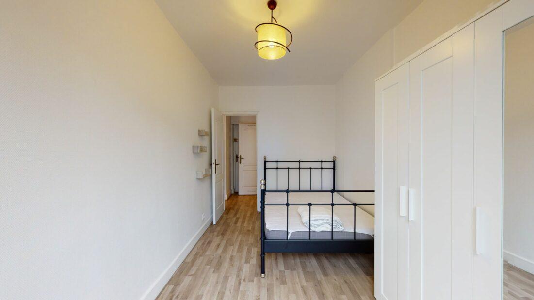 agence immobilière charenton-le-pont: 2 pièces 32 m², chambre avec murs blancs