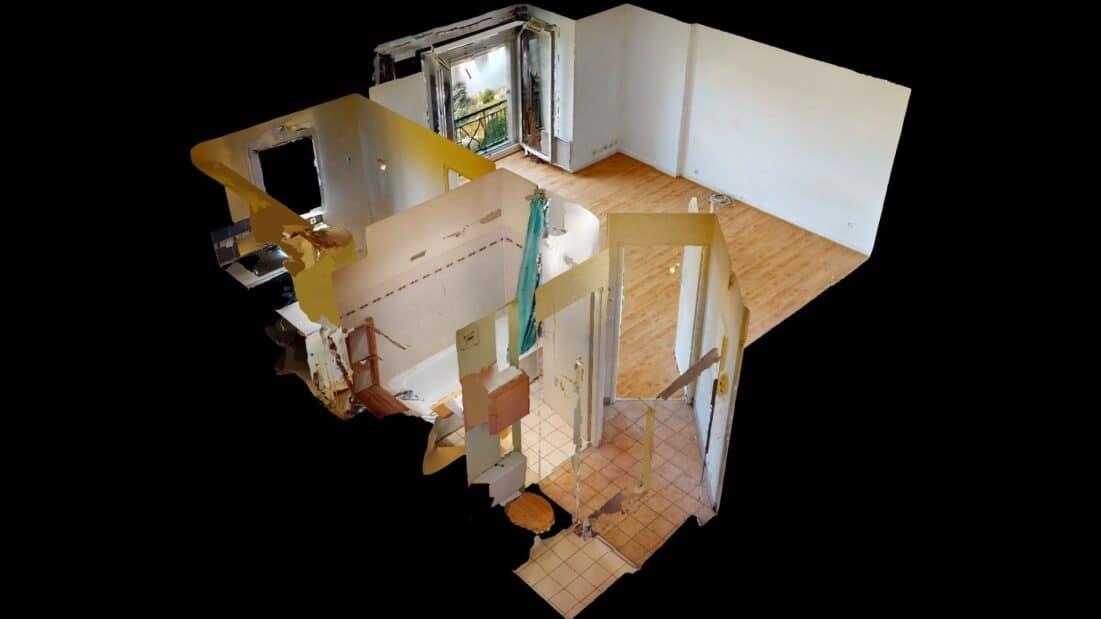 agence location immobiliere: studio 37 m², visite virtuelle interractive en ligne