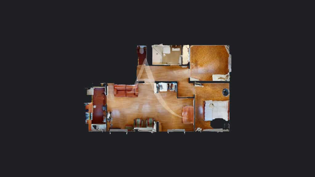 appartement alfortville: 4 pièces 65 m², plan et mesures sur la pré visite en ligne