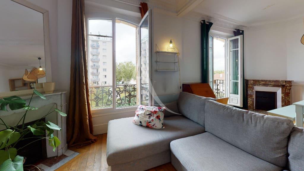 alfortville appartement location: 2 pièces meublé 55 m², double séjour avec cheminée