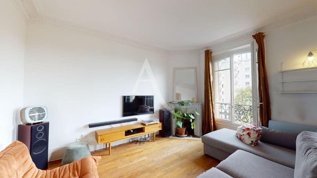 appartement alfortville location: 2 pièces meublé 55 m², salon / séjour  avec parquet