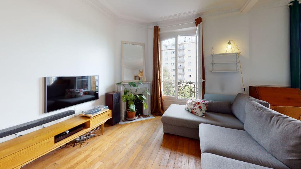 louer appartement alfortville: 2 pièces meublé 55 m², double séjour coté salon