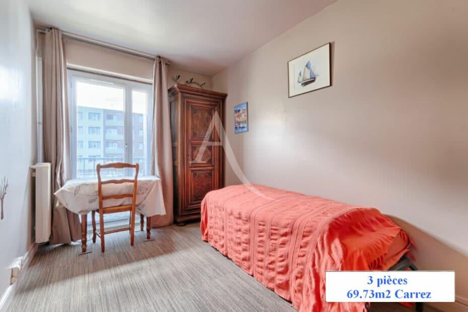 appartement à vendre charenton: 3 pièces 70 m², seconde chambre avec grande fenêtre