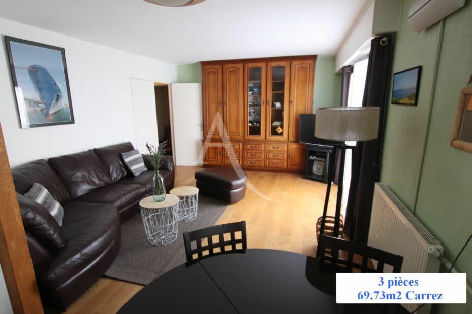 appartement à vendre à charenton-le-pont: 3 pièces 70 m², séjour 31 m² avec espace repas