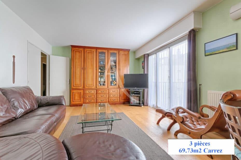 appartement à vendre à charenton le pont: 3 pièces 70 m², séjour avec grande porte fenêtre et belle hauteur