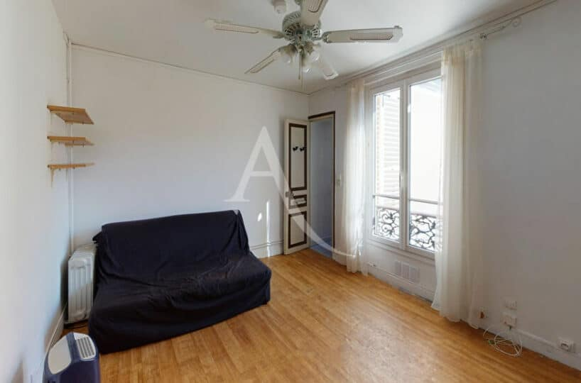 achat appartement alfortville: beau 2 pièces 27 m² traversant, séjour lavec parquet au sol, cave. secteur rer d