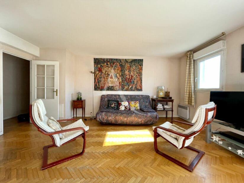alfortville vente appartement: 4 pièces 98 m², beau séjour lumineux de 32 m² avec balcon