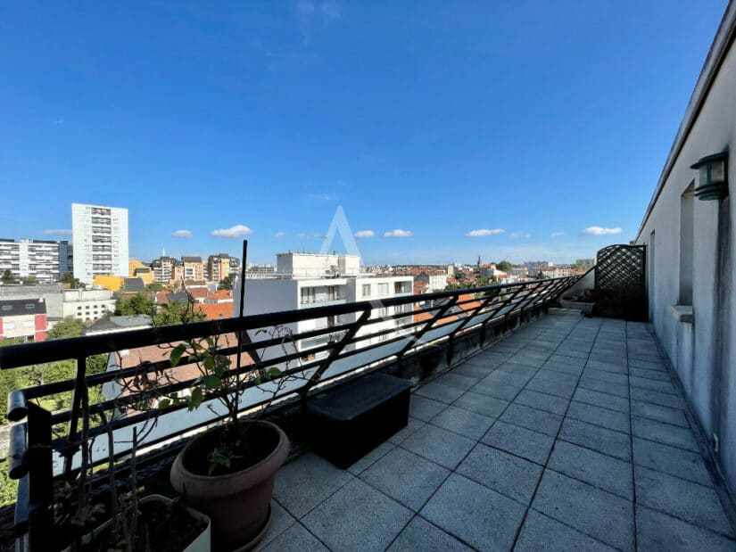 appartement à vendre à alfortville: 4 pièces 98 m², terrasse vue dégagée, 5° étage / 5, ascenseur