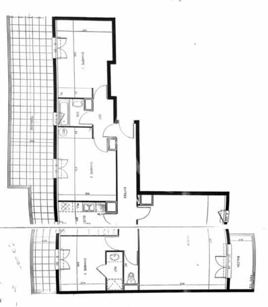 immo alfortville: 4 pièces 98 m², plan au sol