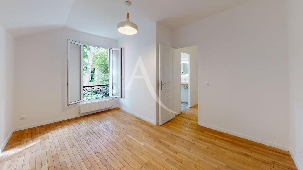 agence immo alfortville: maison 3 pièces 63 m² à louer, première chambre vue sur verdure