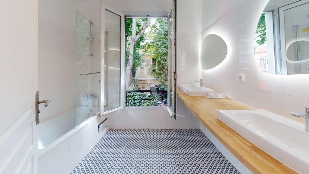 immo alfortville: pavillon 3 pièces 63 m² refait à neuf, en location, belle salle de bains