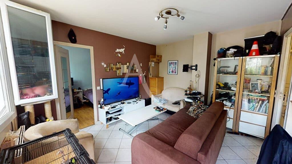 achat appartement alfortville: 2 pièces 34 m², séjour carrelage blanc vue jardin