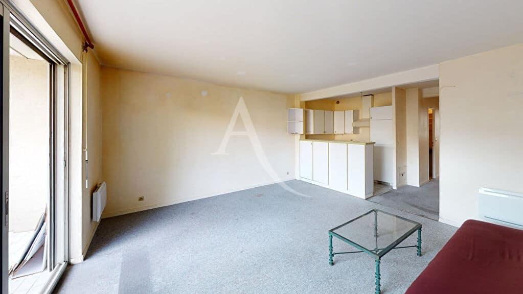 appartement a vendre alfortville: 2 pièces 50 m², séjour avec cuisine ouverte