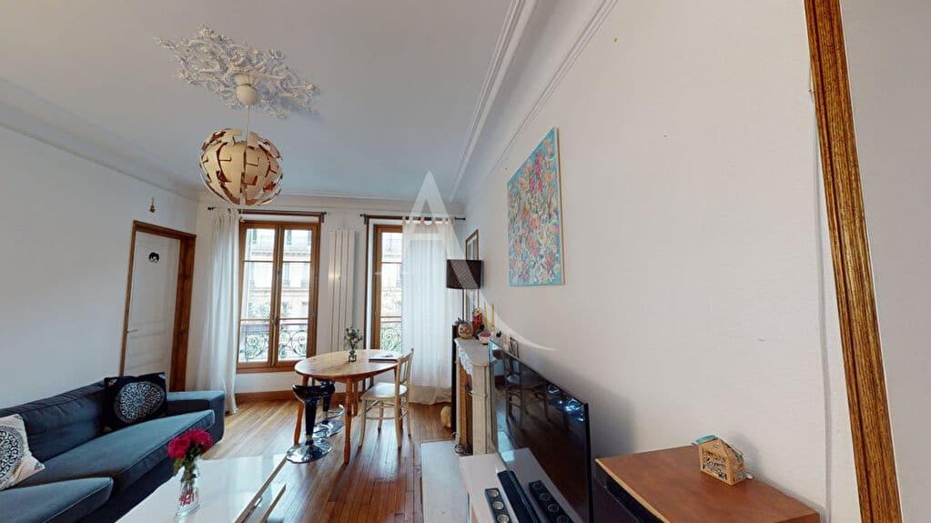 vente direct immo: paris métro bel-air appartement 4 pièces 76 m², traversant